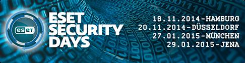 Blue Frost Security ist Teilnehmer auf den ESET Security Days 2014 in Düsseldorf
