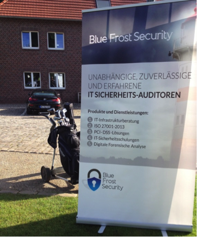 Blue Frost Security beteiligte sich als Sponsor am 6. BVMW Business-Golfcup